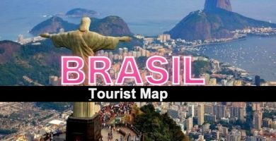 Tourist map of Brazil