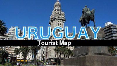 tourist map uruguay